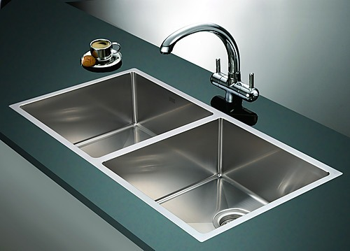 handmade stainless steel undermount topmount kitchen sink with waste. beautiful ideas. Home Design Ideas