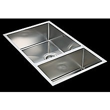 715x440mm Handmade Stainless Steel Undermount / Topmount Kitchen Sink with Waste
