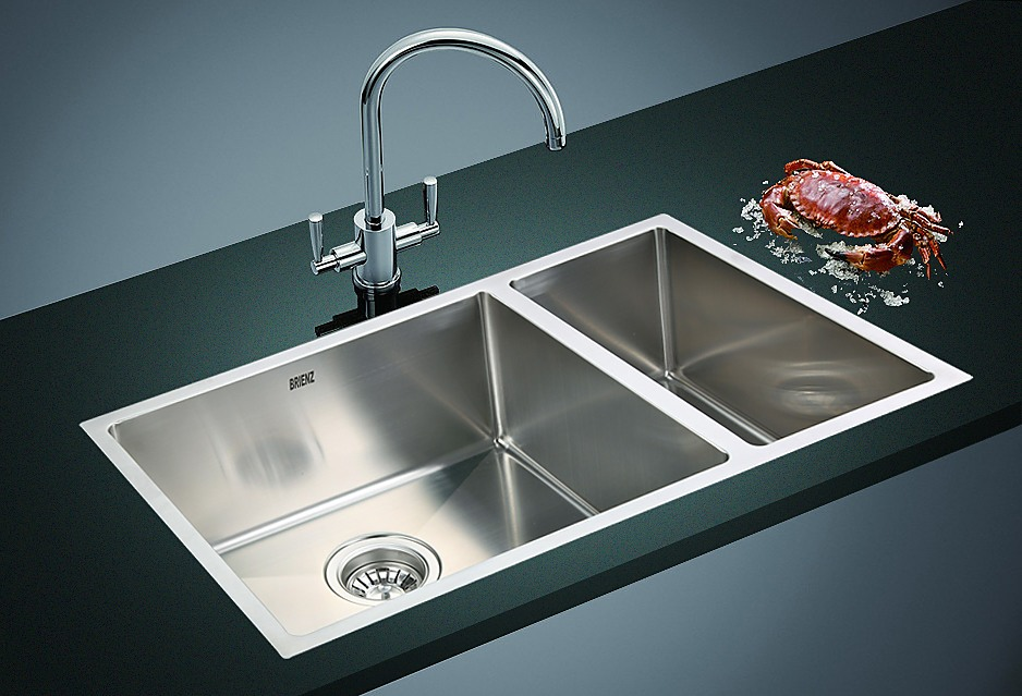 topmount kitchen sink 715x440mm handmade stainless steel undermount topmount 2866