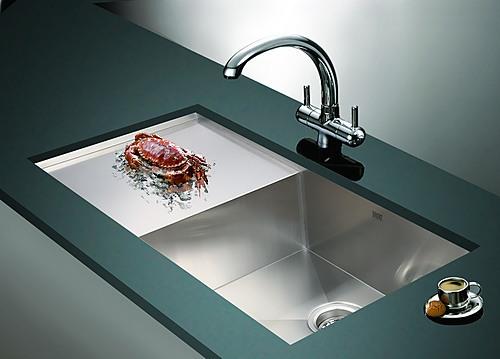 Handmade Stainless Steel Sink : 960x450mm Handmade Stainless Steel Undermount / Topmount Kitchen Sink ...