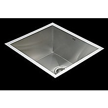 510x450mm Handmade Stainless Steel Undermount / Topmount Kitchen Laundry Sink with Waste