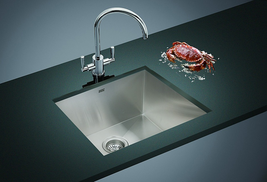 510x450mm Stainless Steel Single Bowl Sink With Round