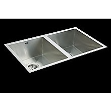 770x450mm Handmade Stainless Steel Undermount / Topmount  Kitchen Sink with Waste