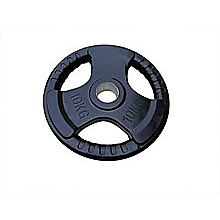 10kg Black Olympic Rubber Encased Weight Plate