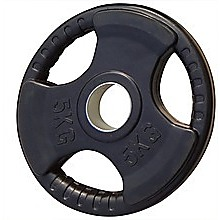 5kg Black Olympic Rubber Encased Weight Plate
