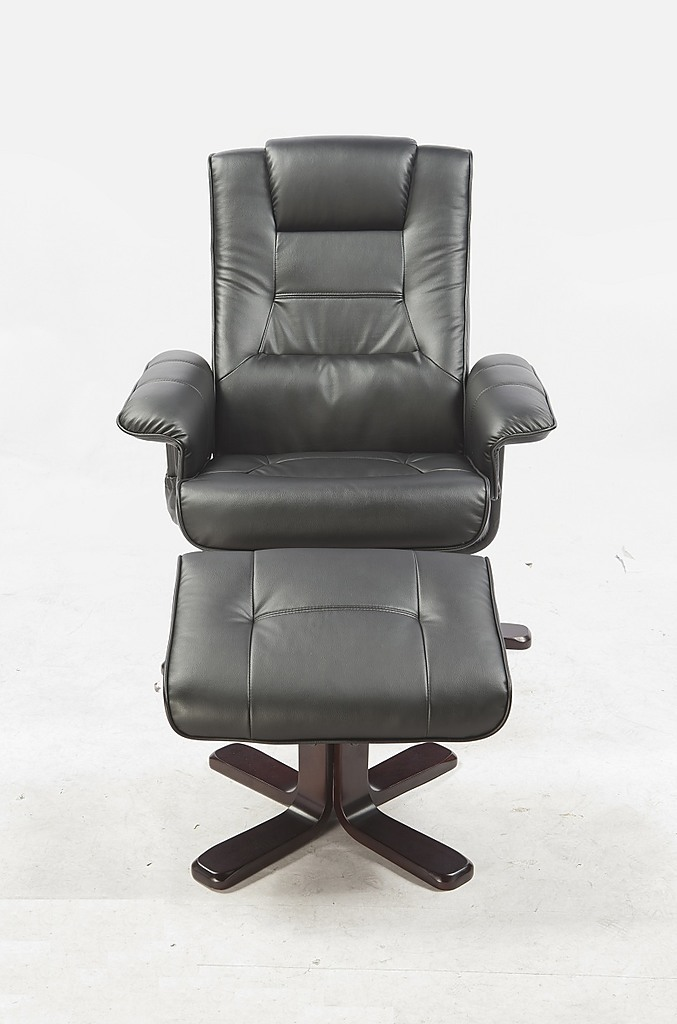 pu leather full body massage chair recliner ottoman with remote rh factoryfast com au