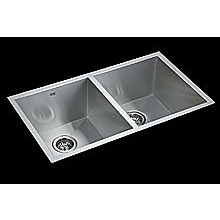 820x457mm Handmade Stainless Steel Undermount / Topmount Kitchen Laundry Sink with Wast