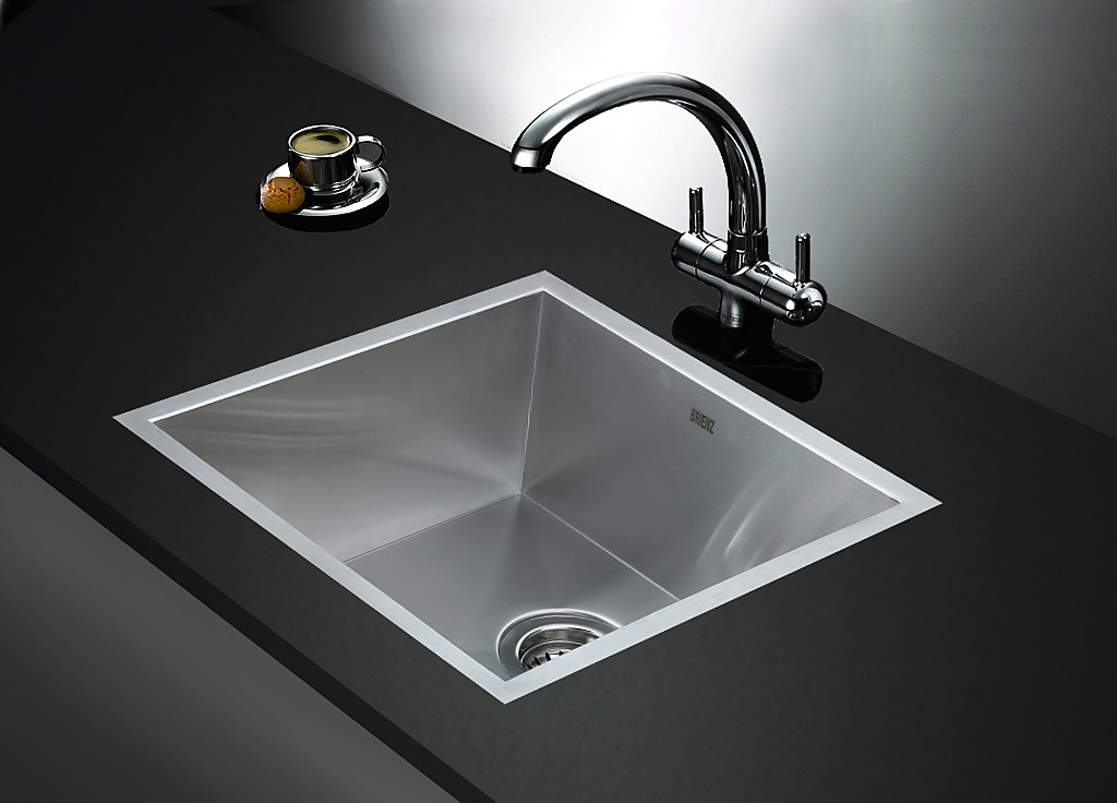 440x440mm Stainless Steel Single Bowl Sink With Round