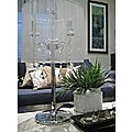 Modern Crystal Chandelier Desk Lamp White
