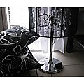 Modern Crystal Chandelier Desk Lamp Black