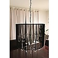 CRYSTAL CHANDELIER CEILING LAMP C2014B BLACK RETRO