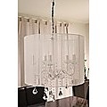 CRYSTAL CHANDELIER CEILING LAMP C2014W WHITE RETRO