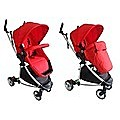LIMITED 2 IN1 ALUMINIUM SILVER RED BABY STROLLER PRAM JOGGER WITH BASSINET