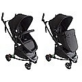LIMITED 2 IN1 ALUMINIUM BLACK BLACK BABY STROLLER PRAM JOGGER WITH BASSINET