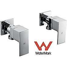 Chrome Laundry Washing Machine Stops Mixer Tap Set w/ WaterMark