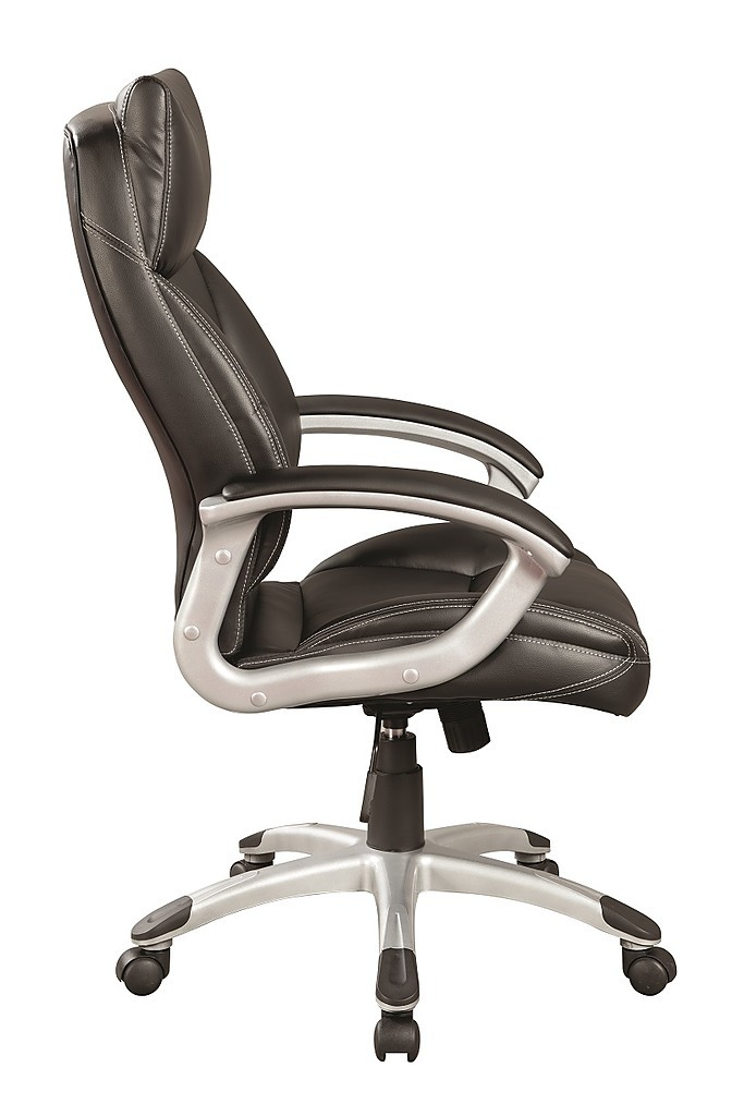 pu leather office chair executive padded black. Black Bedroom Furniture Sets. Home Design Ideas