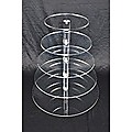 5 Tier Cupcake Stand 5mm Acrylic Wedding Display