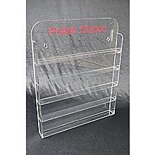 Nail Polish Display 5mm Acrylic Stand Wall Mount Holds 60-65