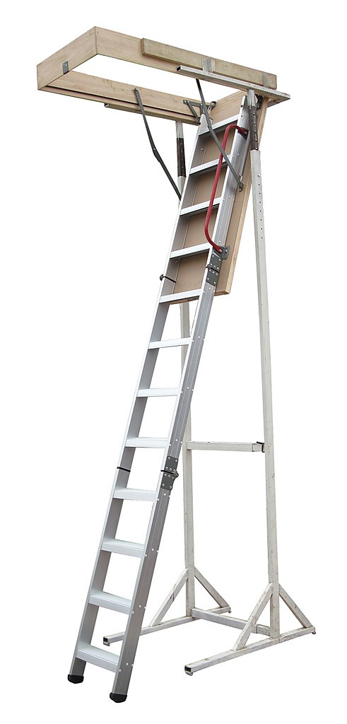Deluxe Aluminium Attic Loft Ladder 2700mm To 3050mm