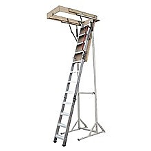 Deluxe Aluminium Attic Loft Ladder - 2.7m to 3.05m