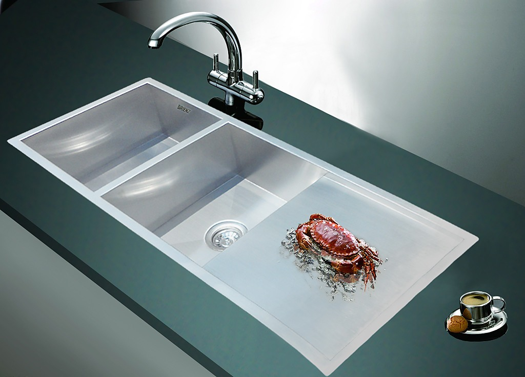 1160x460mm Handmade Stainless Steel Sink With Waste And