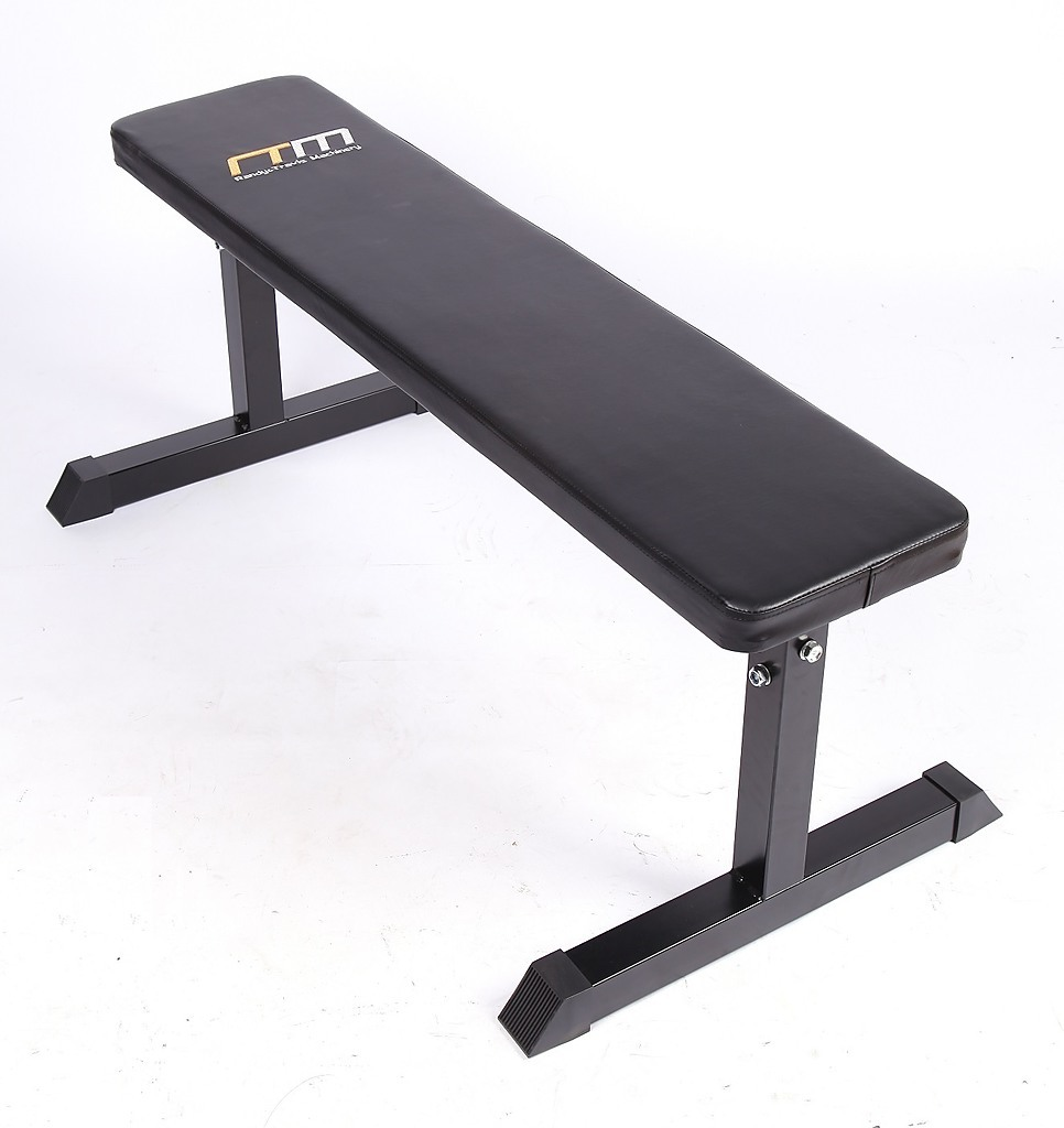 Weights Flat Bench Press Home Gym Exercise Fitness Equipment Lifting Support Padded Workout