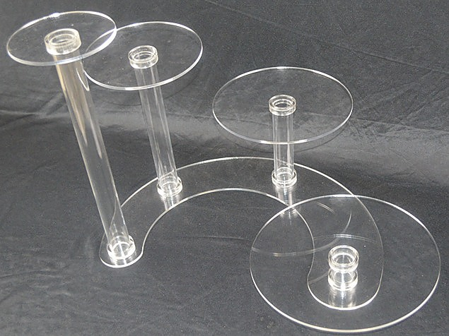 4 Tier Acrylic Wedding Cake Stand