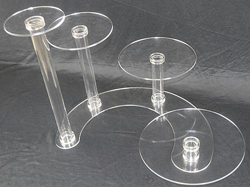 4 Tier Acrylic Wedding Cake Stand