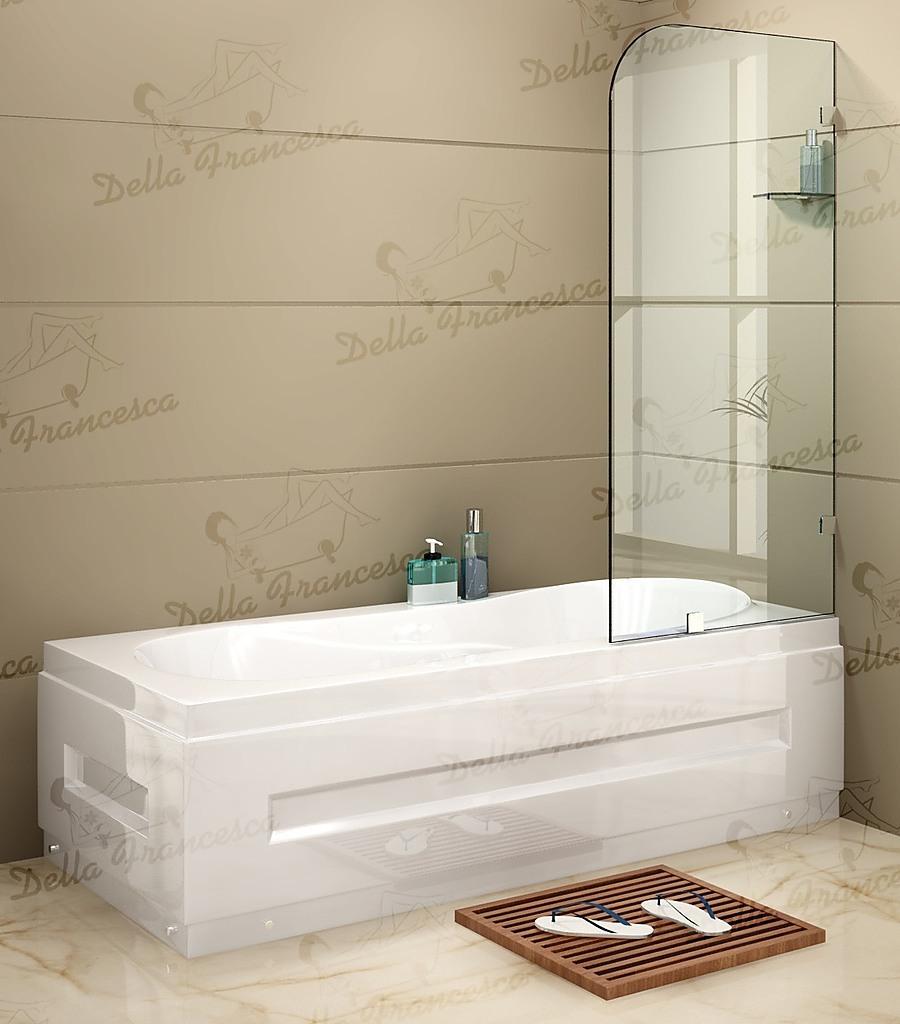 70 x 145cm Frameless Glass Bath Screen
