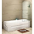 70 x 145cm Frameless Glass Bath Screen by Della Francesca