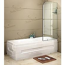 70 x 145cm Frameless Glass Bath Screen by Della Francesca Hardware: CHROME