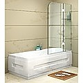 120 x 145cm Frameless Glass Bath Screen by Della Francesca Hardware: CHROME