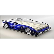 Blue Kids Race Car Bed