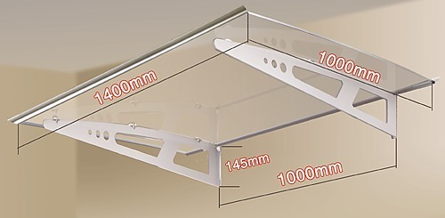 DIY Outdoor Awning Cover 1.4m x 1m Polycarbonate - Power ...