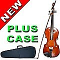 Woodstock 4/4 Full Size Acoustic Violin Set Fiddle with Case Bow Rosin