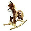 Child Rocking Horse Toy (with Horse Sound)- Brown