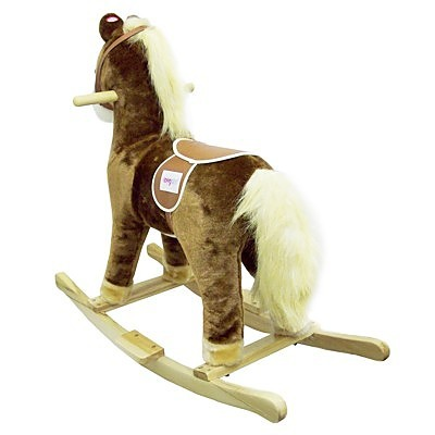 Outdoor Baby Swing >> Child Rocking Horse Toy (with Horse Sound)- Brown - Baby & Children