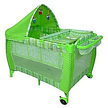 6in1 F&F Portable Baby Portacot Travel Cot - GREEN