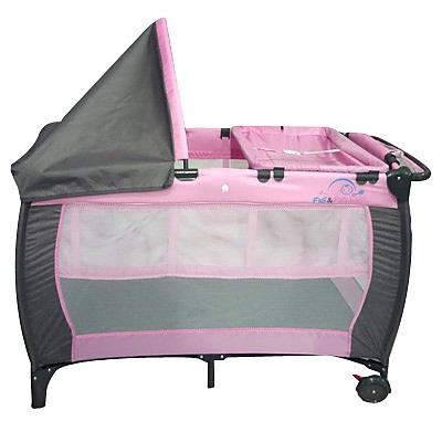 6in1 F Amp F Portable Baby Portacot Travel Cot Pink