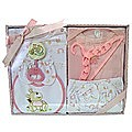 Newborn Baby Gift Set - 9 Piece (Pink)