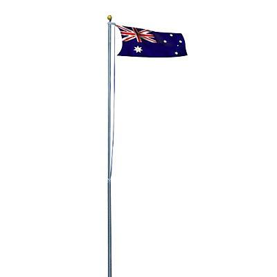 6 0m Flag Pole Full Set Kit W Australian Flag Outdoor